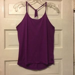 Fabletics Sz M Purple Tank Halter Neck Back Bustl